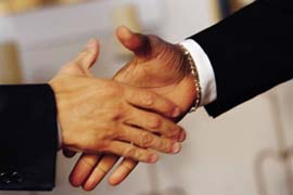 photo of handshake